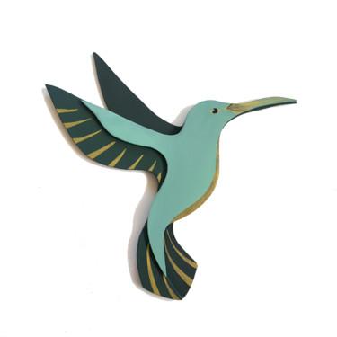 Colibri verts et doré